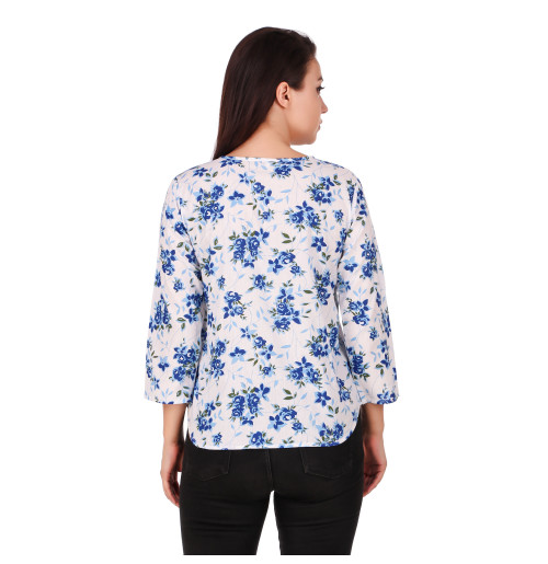 WOMEN'S PRINTED STYLISH COTTON TOP NOW TRY IT